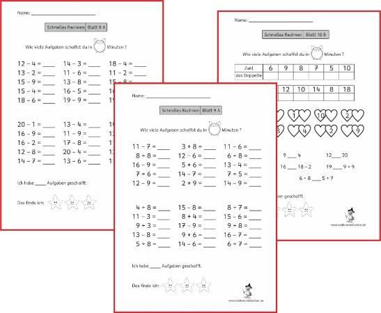Mathemonsterchen Addition Und Subtraktion